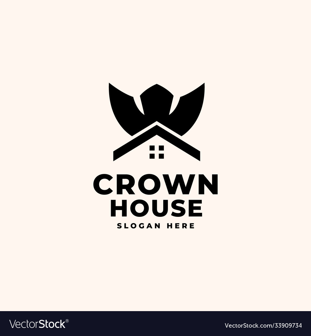 Crown house logo design template - good to use