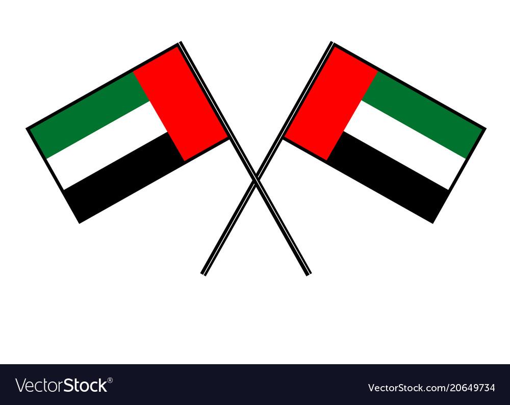 Flag of the united arab emirates stylization of