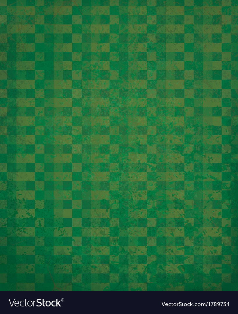 Green checked pattern