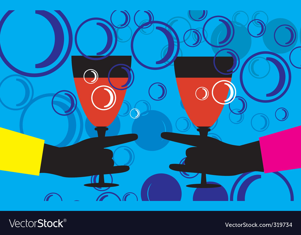 Hand and goblet vector image