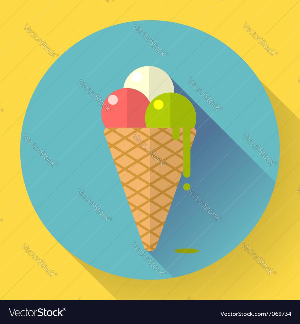 Ice Cream icon Flat designed style