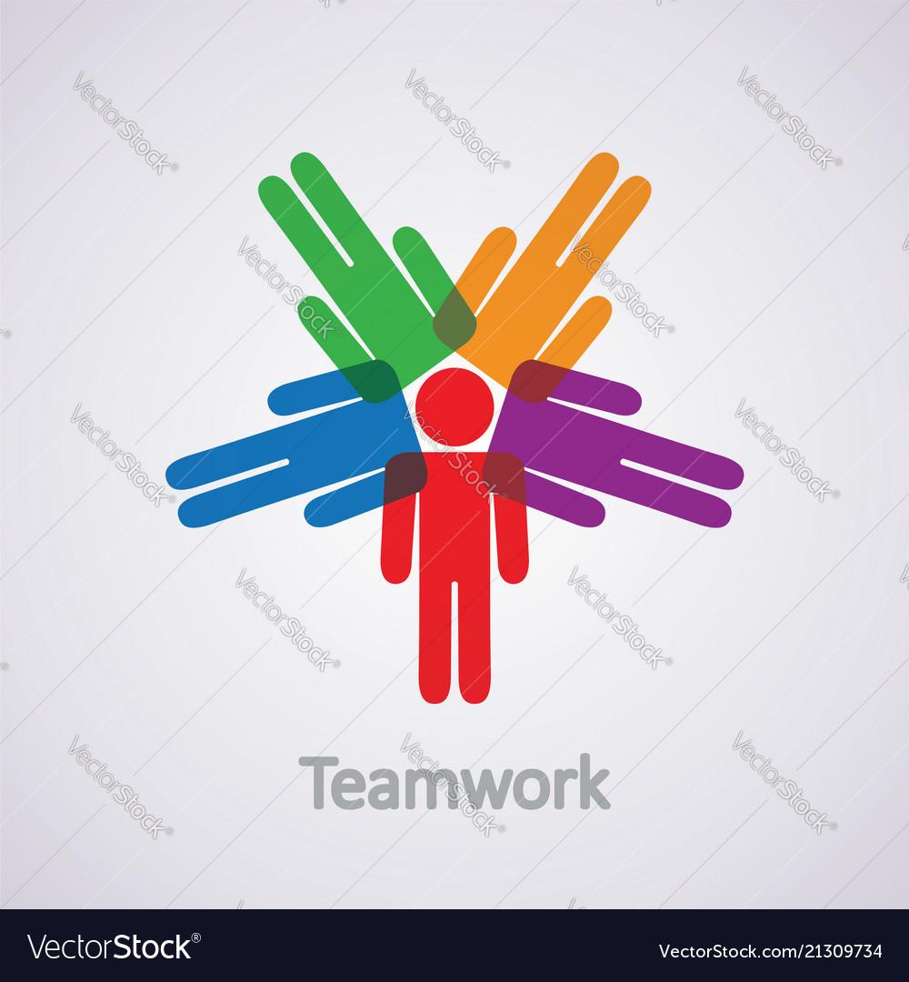 Icon teamwork concept