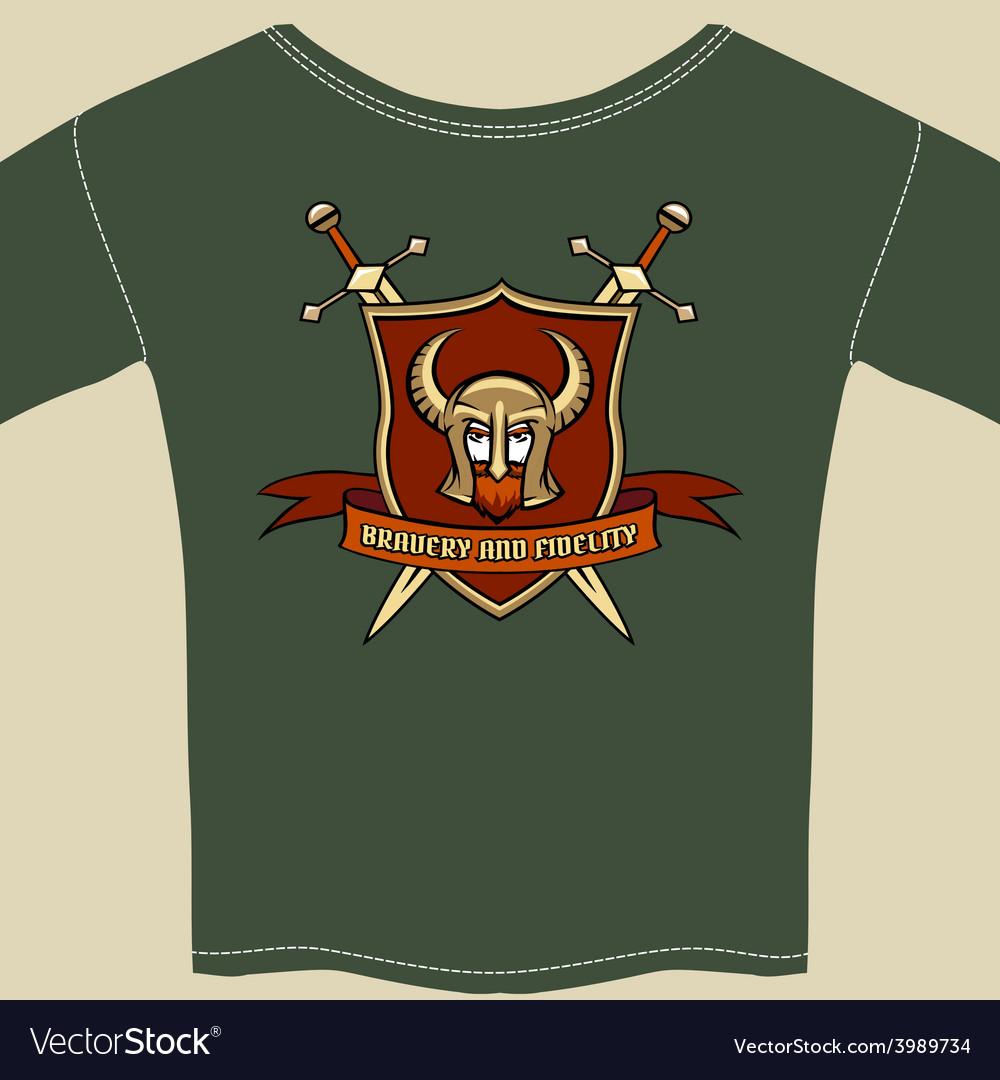 Knight or warrior theme tee shirt template