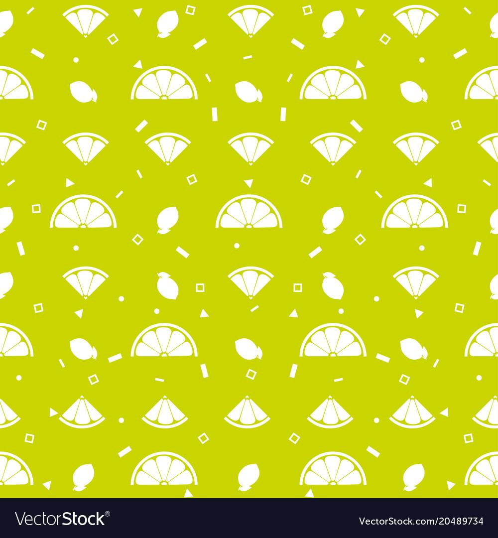 Lemon orange fruits seamless pattern background