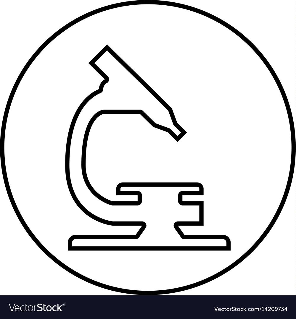 Microscope laboratory isolated icon