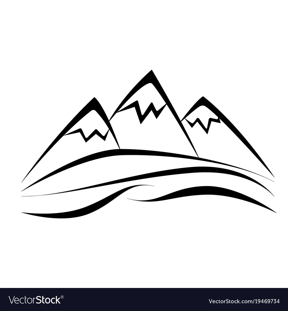 mountain royalty free vector image vectorstock rh vectorstock com mountain vector energy mountain vector line art