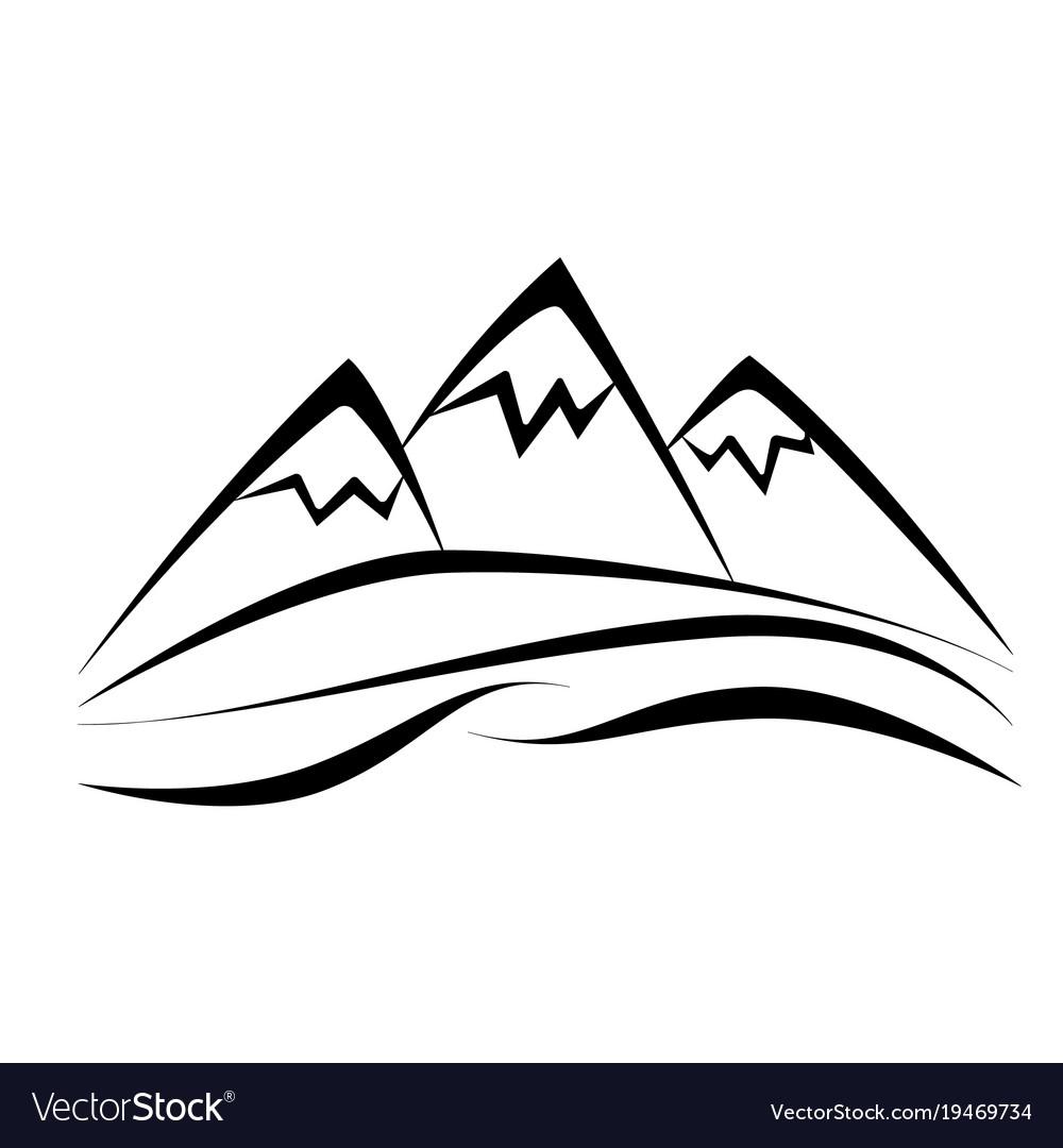 mountain royalty free vector image vectorstock rh vectorstock com mountain vector art mountain vector graphics
