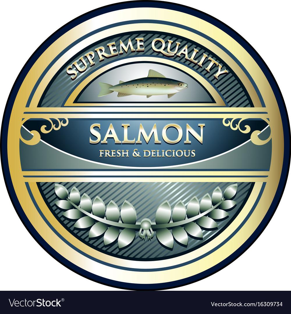 Salmon gold icon