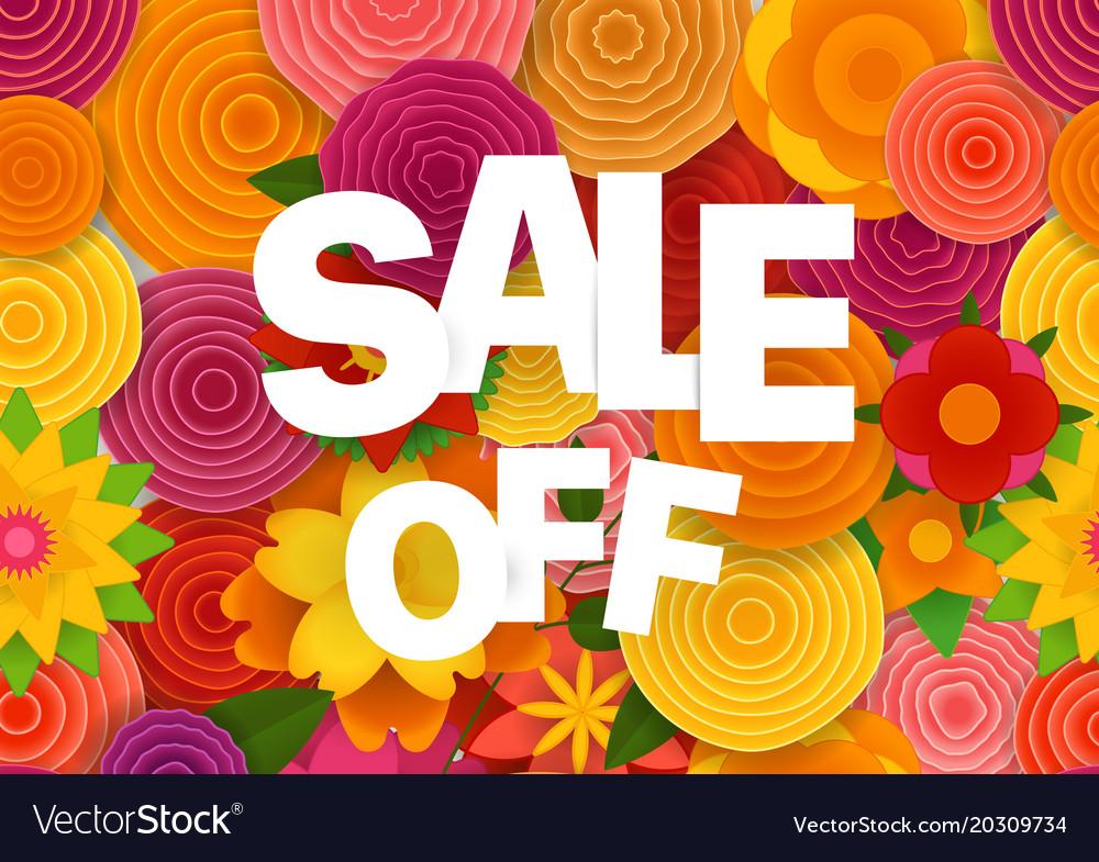 Season sale off concept spring floral seamless