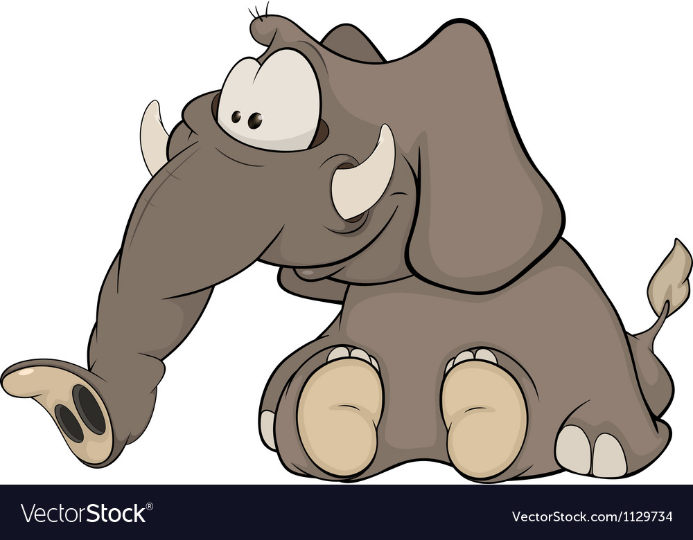 The elephant calf vector image
