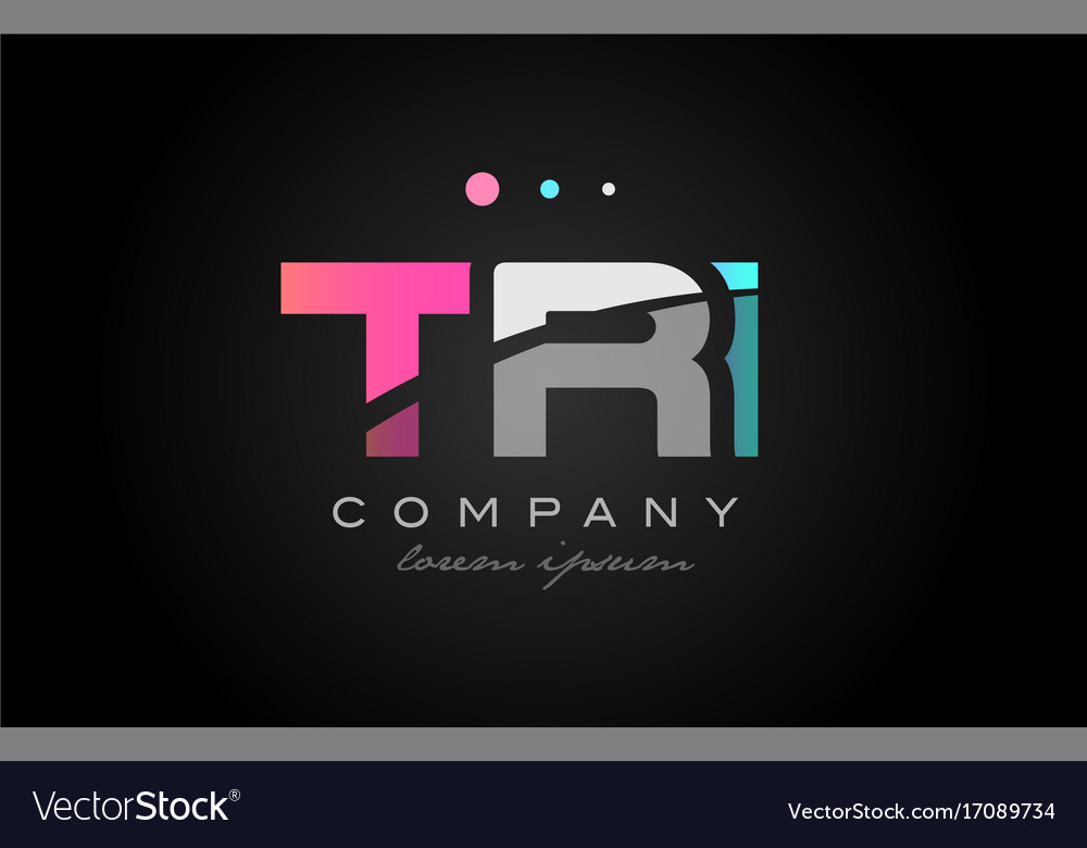 Tri t r i three letter logo icon design