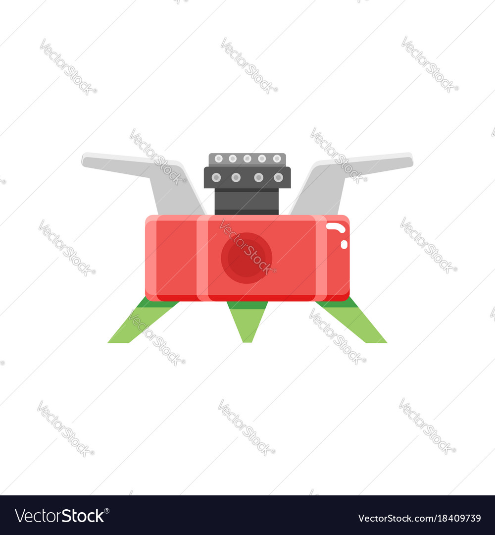 Camping stove furnace travel tourist heater icon