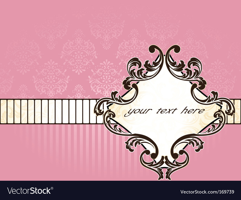 Elegant french vintage label horizontal