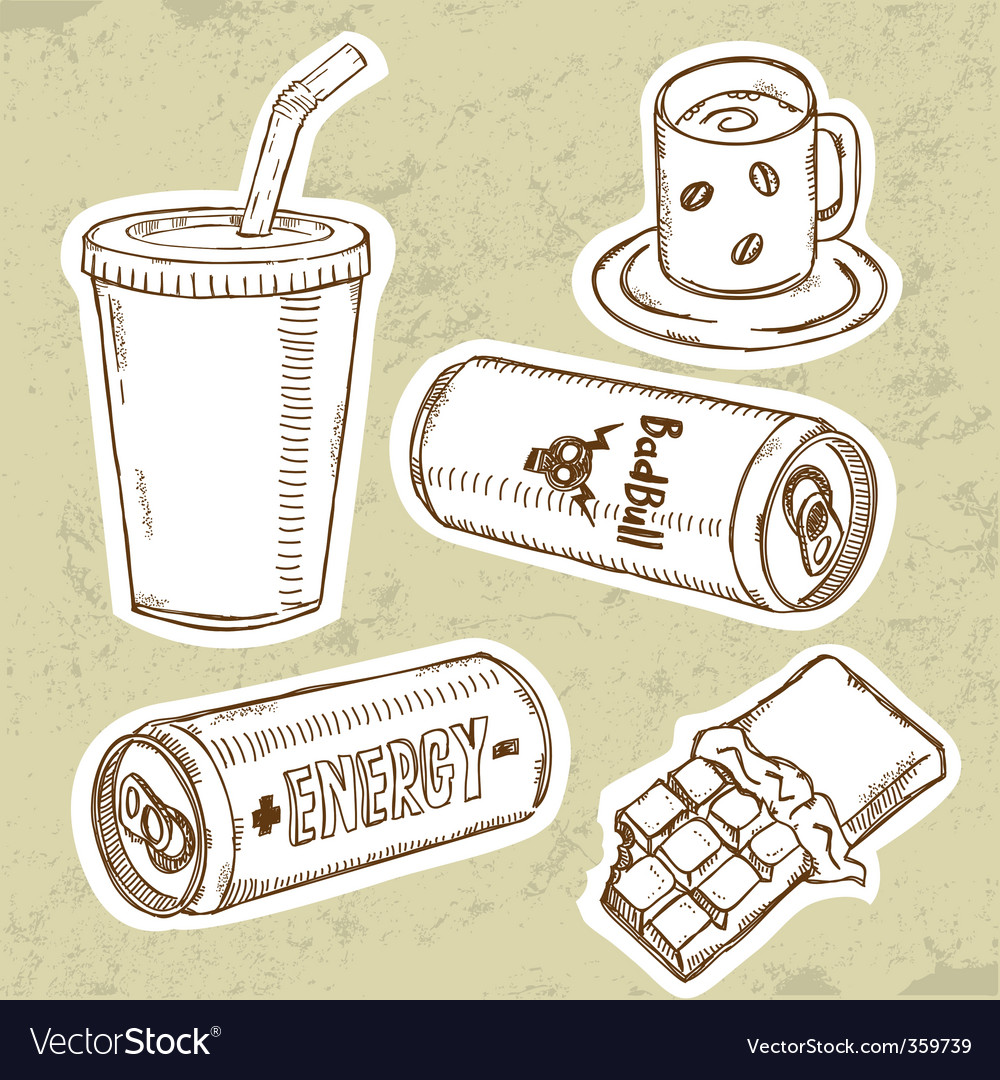 Energy drink V vector image