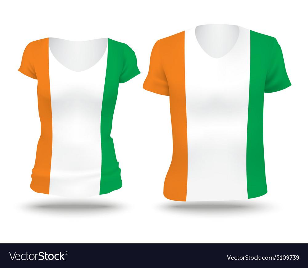 Flag shirt design of Coast of Ivory vector image