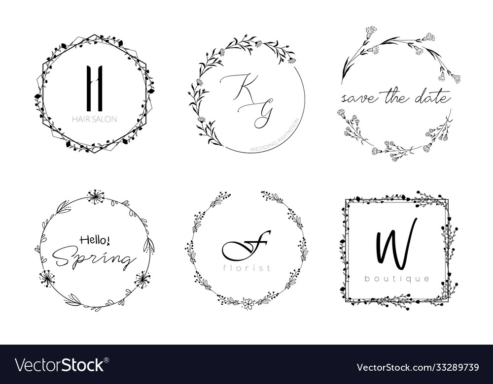 Floral wreath minimal design