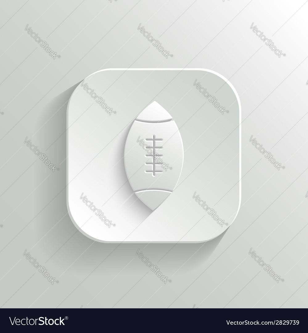Football icon - white app button