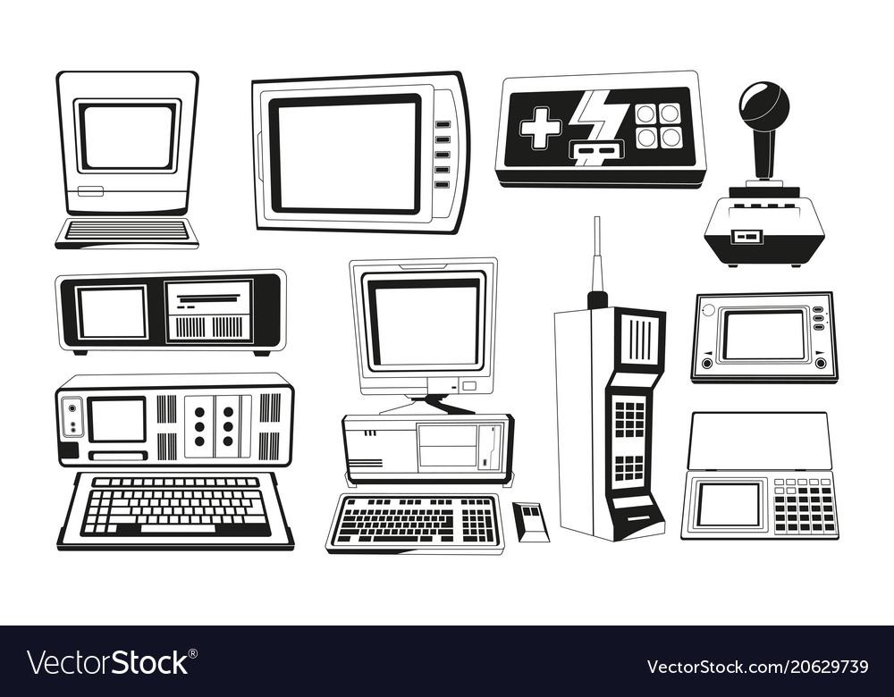 Monochrome of technician gadgets