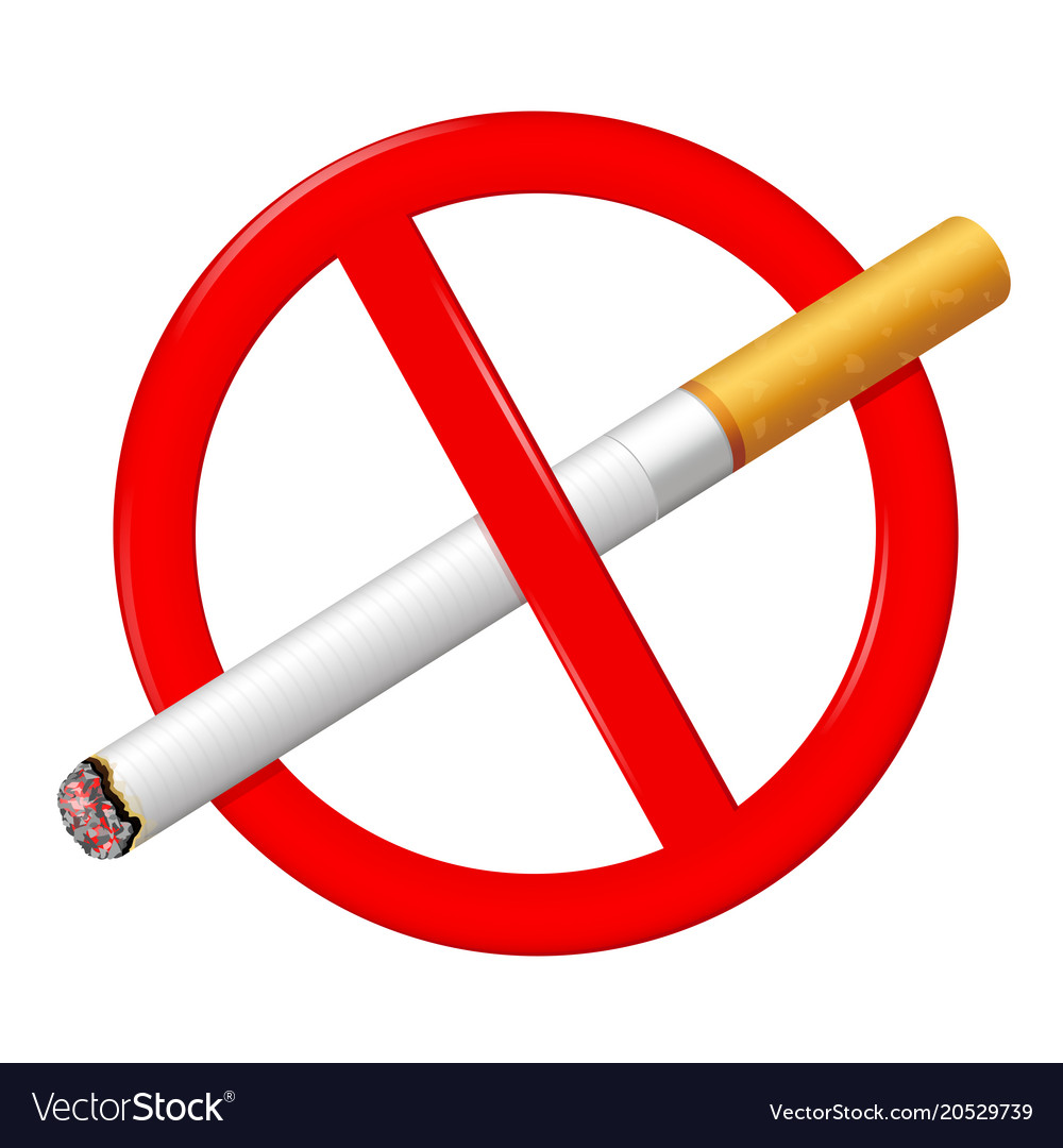 No Smoking Sign Stop Smoking Symbol Royalty Free Vector