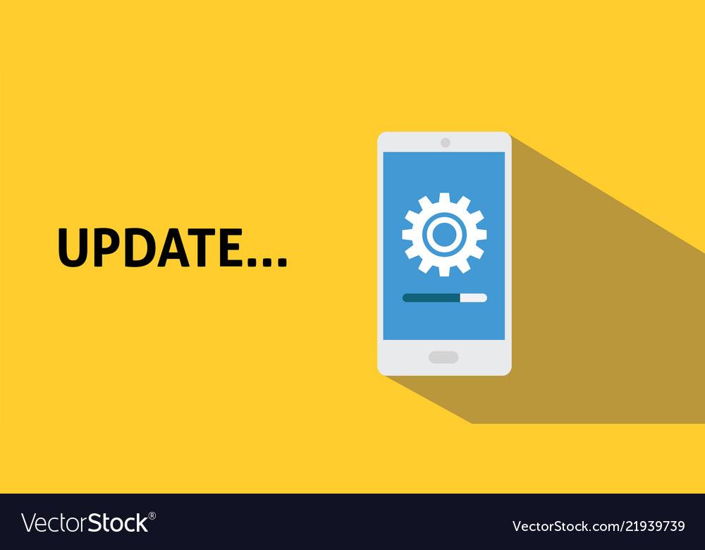 Smartphone update process with gearbox progress