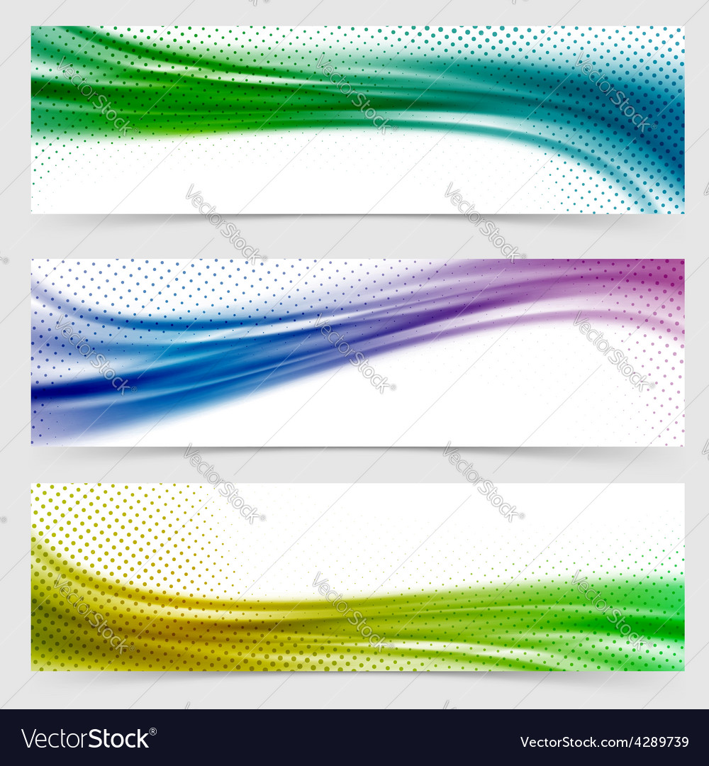 Soft smooth abstract bright wave line header vector image