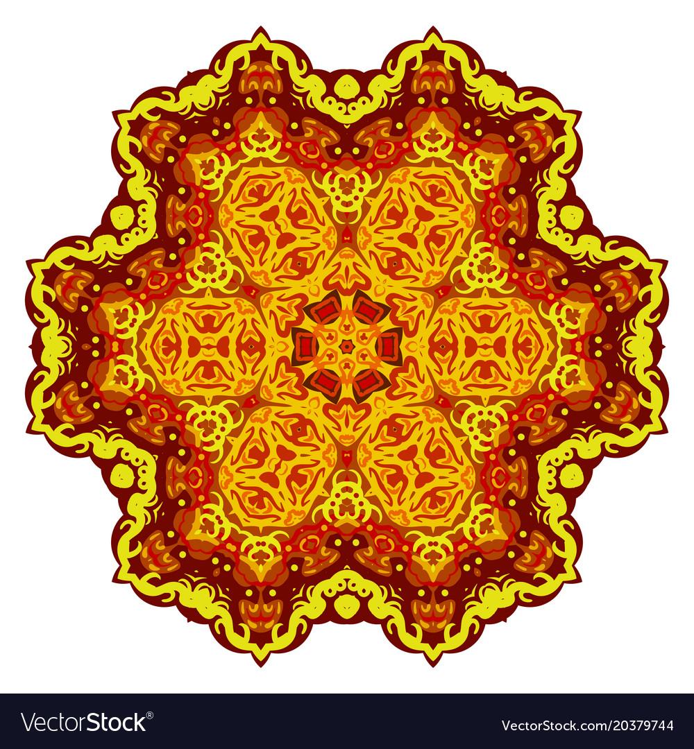 Abstract gold mandala