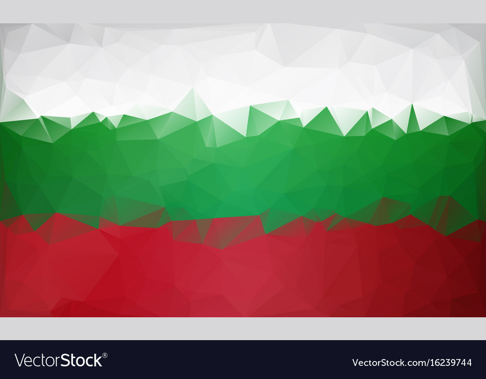 Bulgarian Flag Low Poly White Green Red Flag