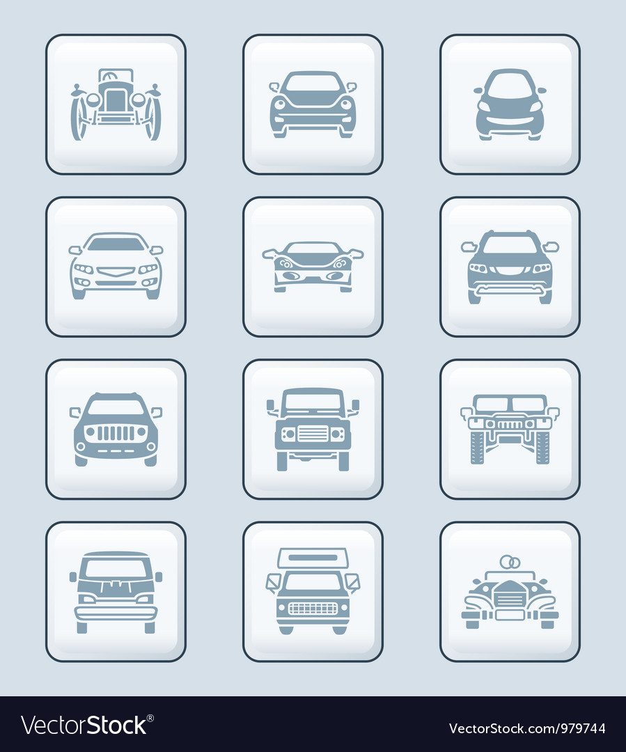 Cars set - TECH series vector image