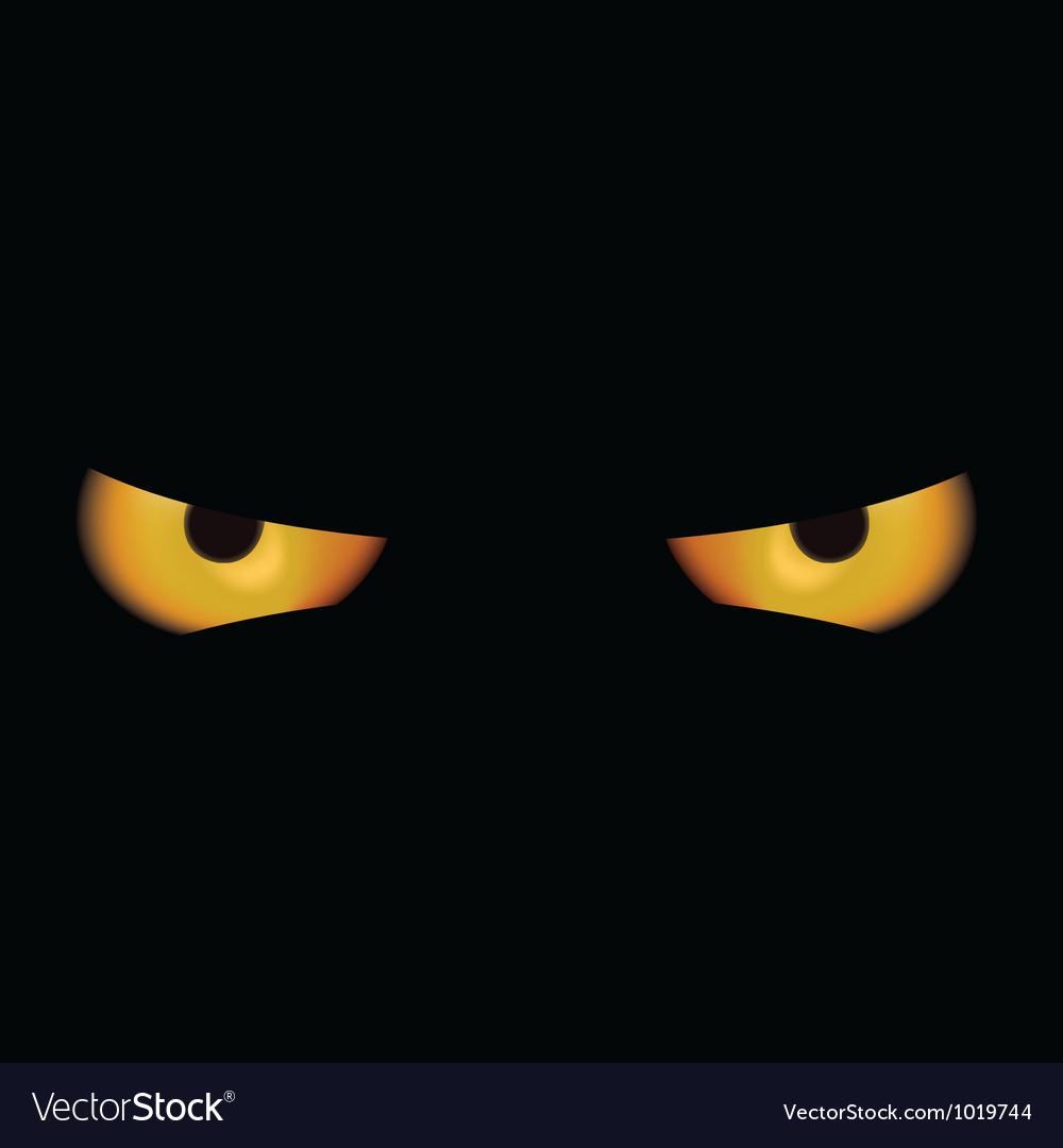 Devil Eyes vector image
