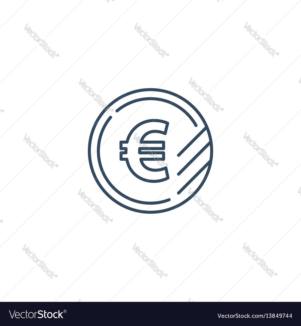 Euro coin icon financial currency exchange vector image