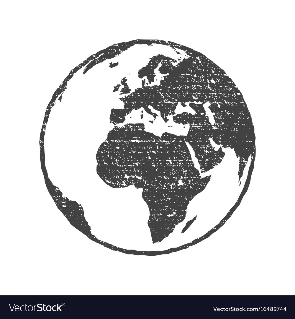 Grunge texture gray world map globe transparent vector image gumiabroncs Gallery