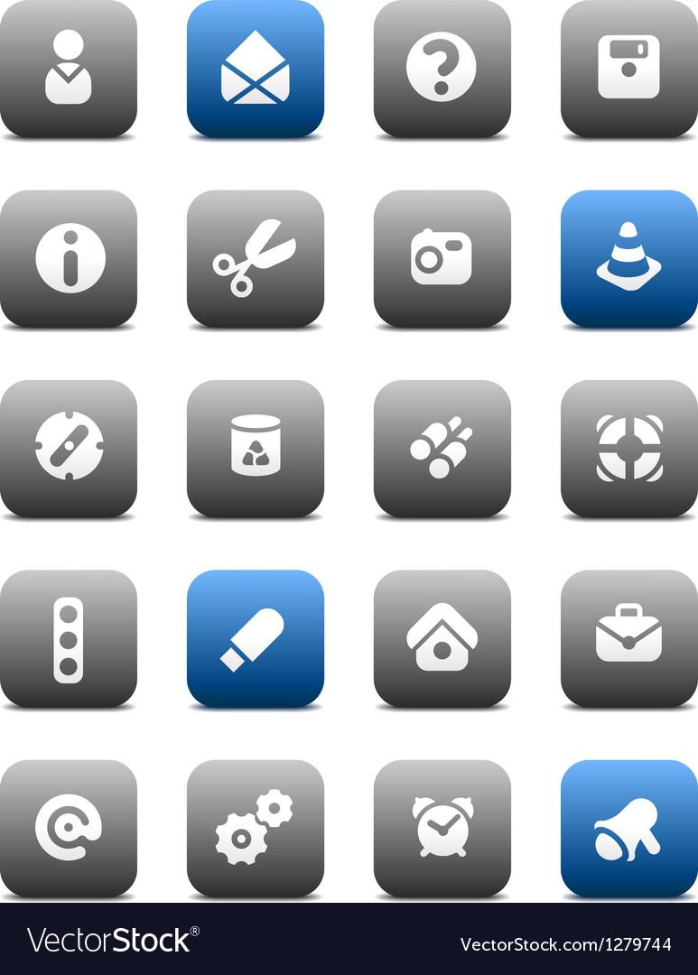 Matt miscellaneous buttons vector image