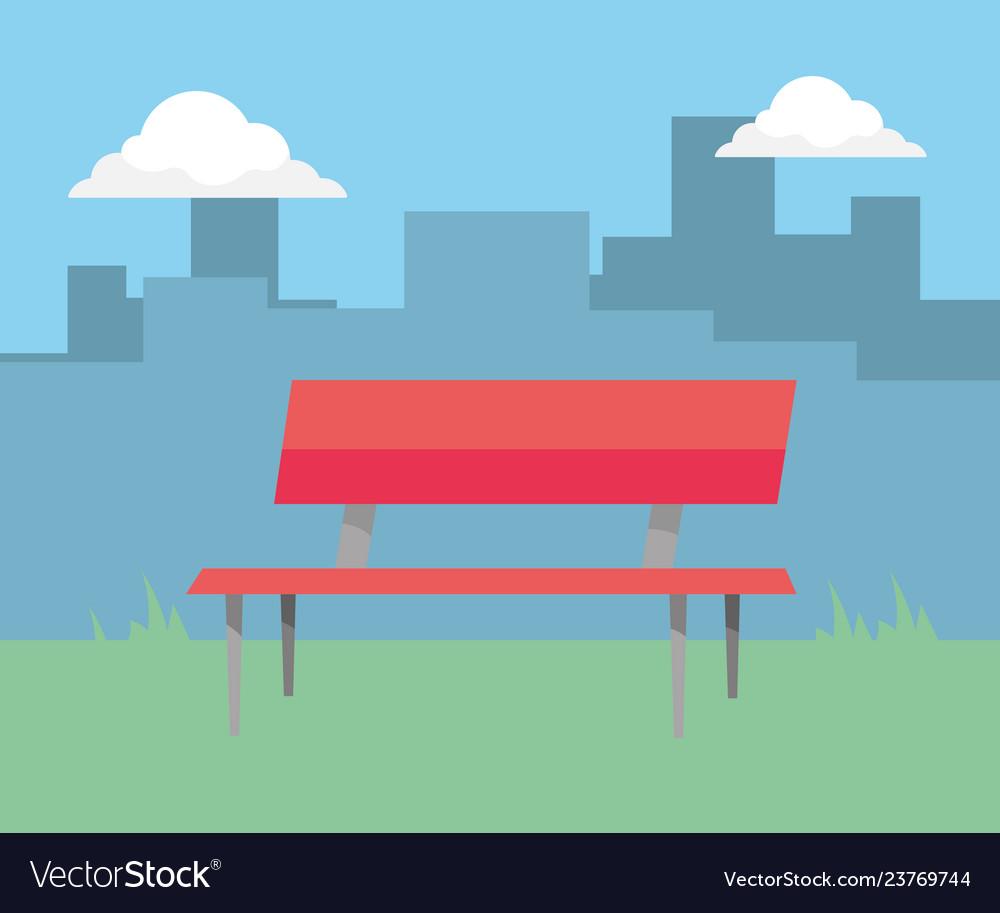 Park bench cartoon