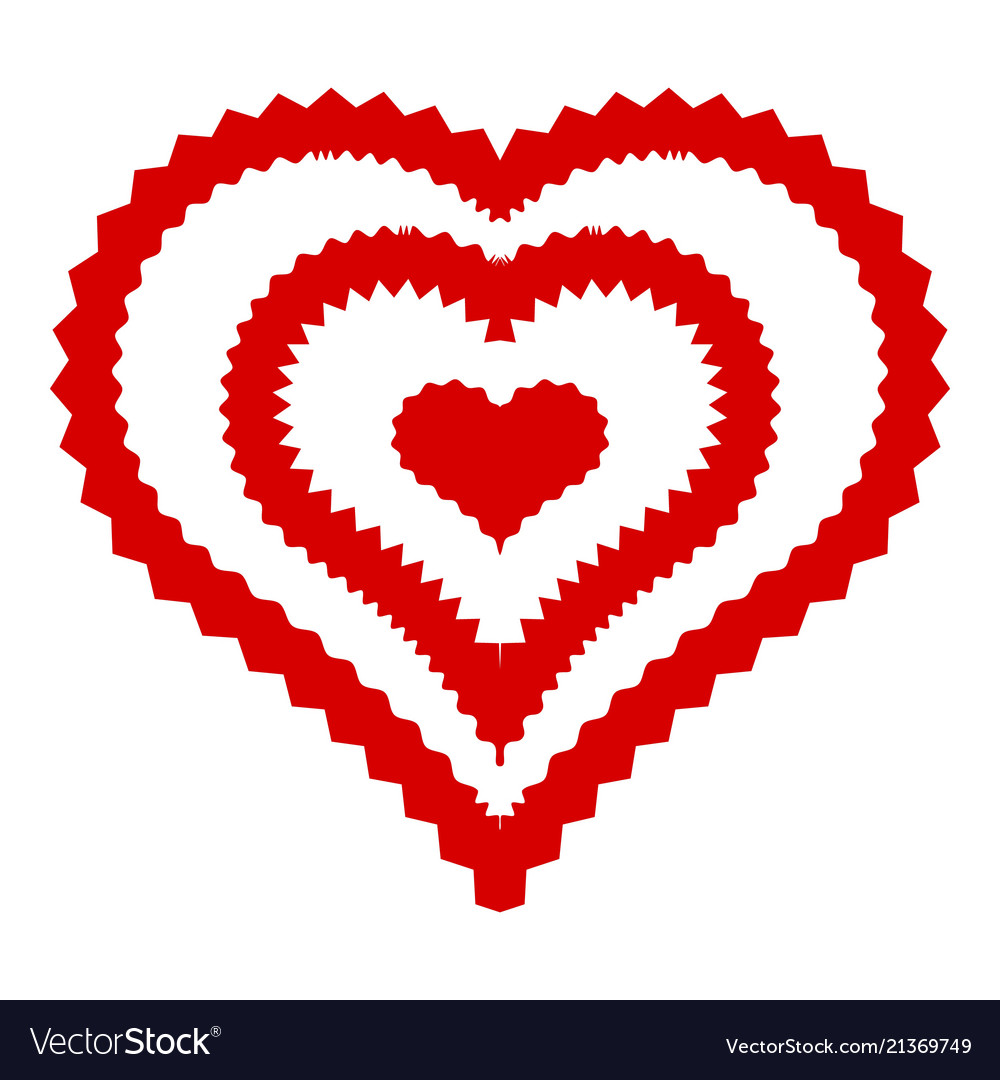 Abstract heart icon simple style