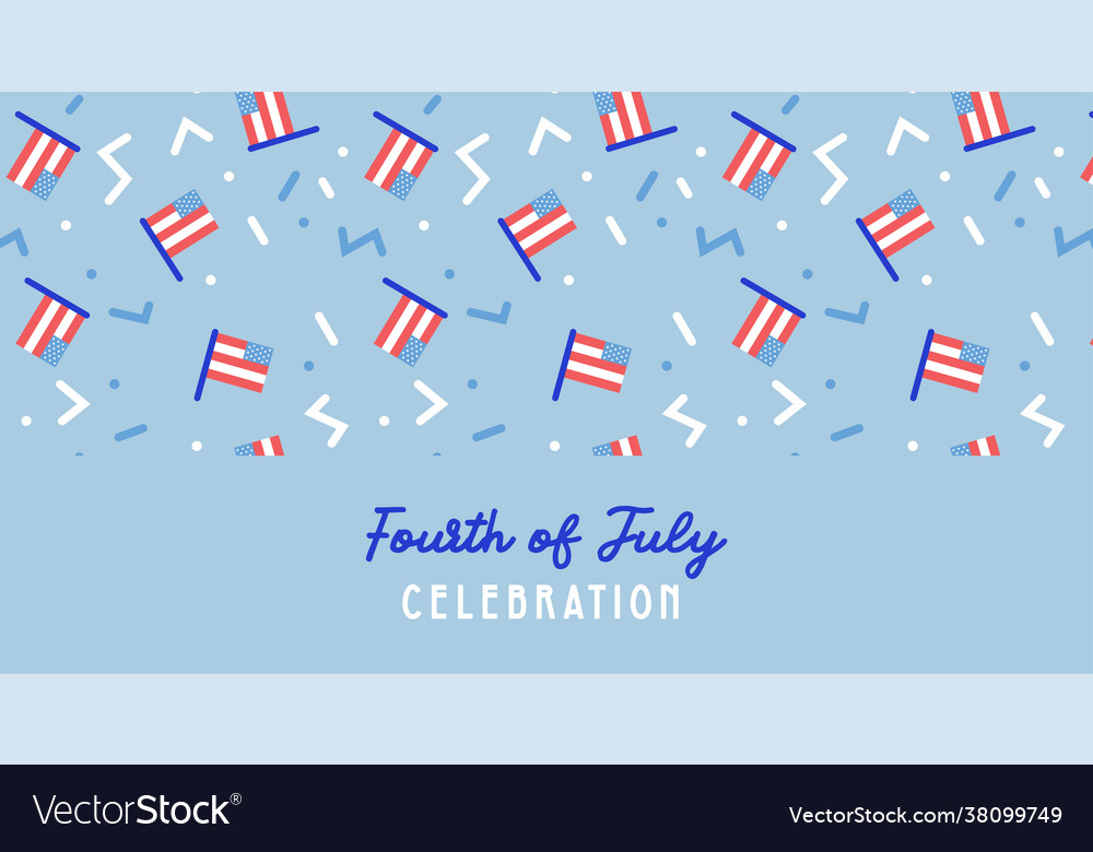 American independence day celebration web banner