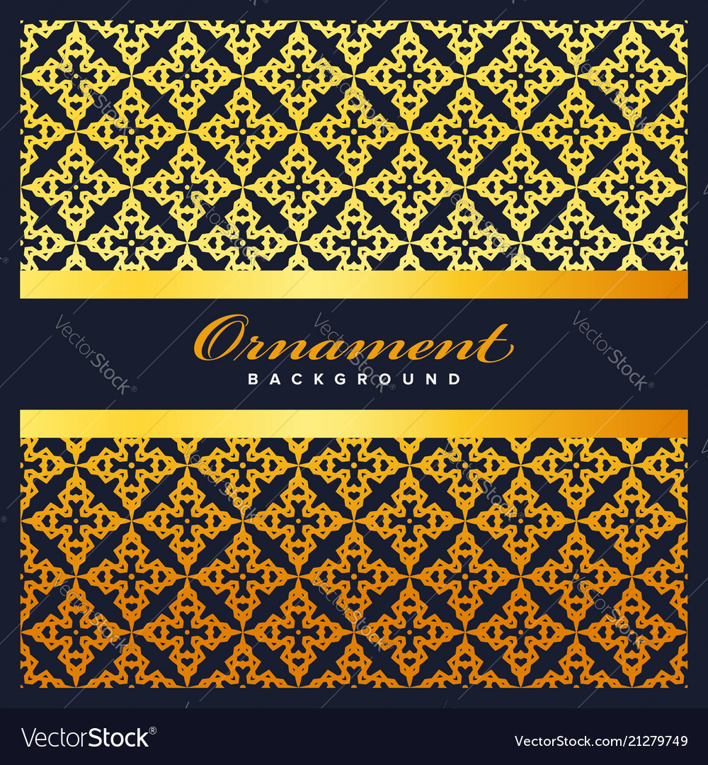 Arabic geometric pattern for banner background vector image