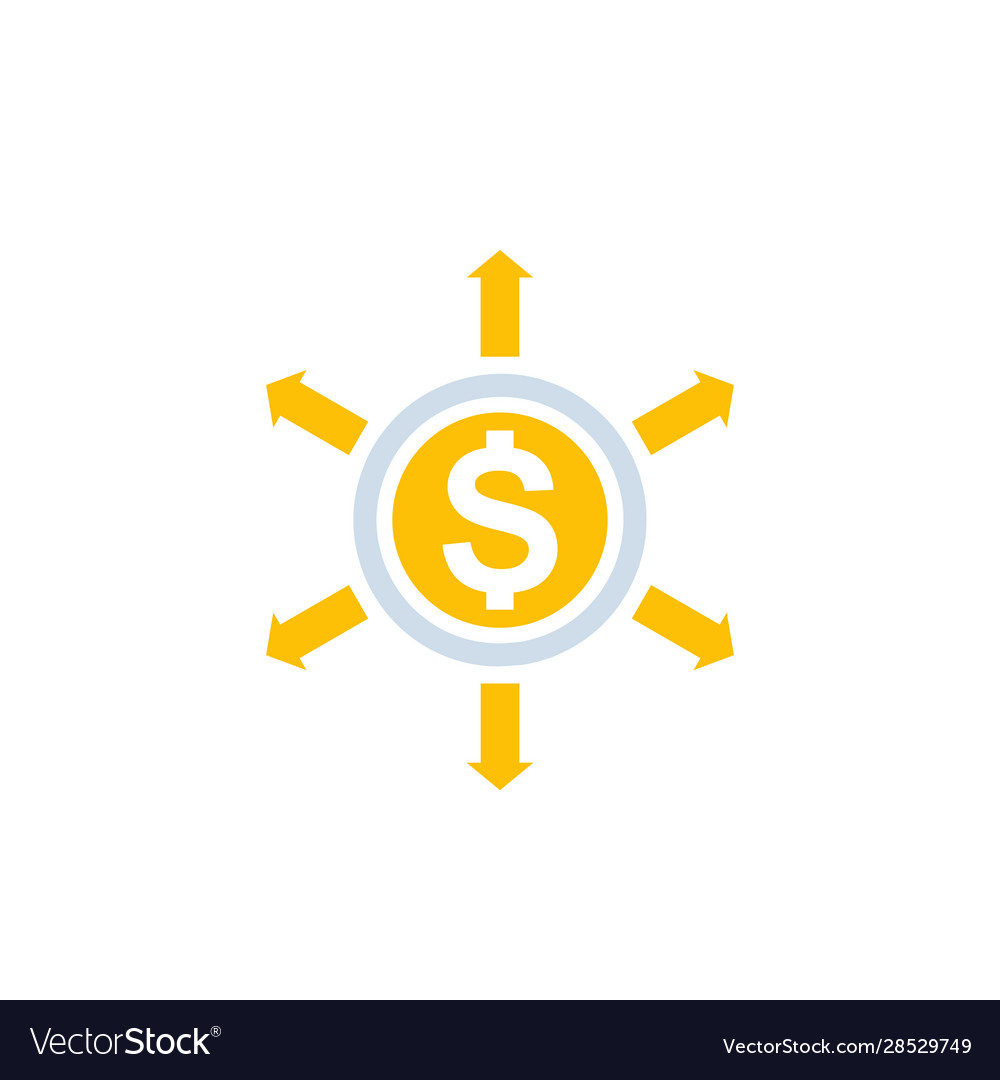Financial diversification icon