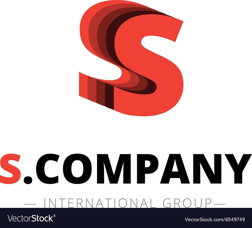Isometric layered S letter logo Company