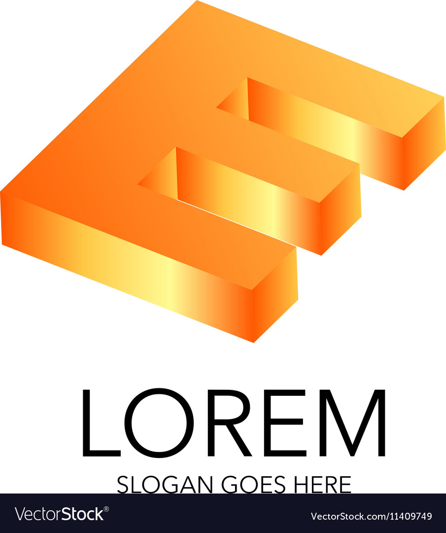 Literal style logo in 3D
