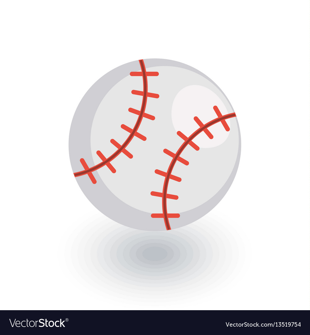 Baseball ball isometric flat icon 3d