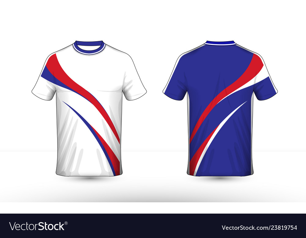 073e386a2 Blue white and red layout e-sport t-shirt design Vector Image
