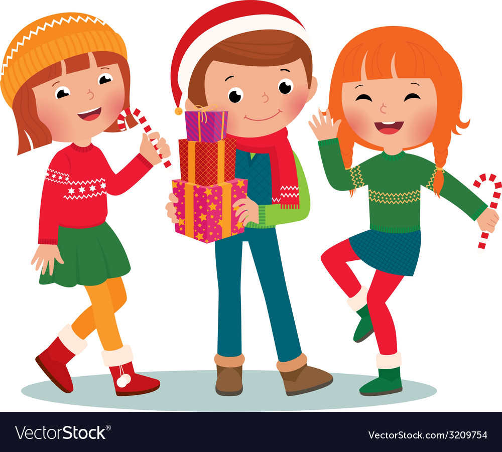 Children Christmas Party Royalty Free Vector Image