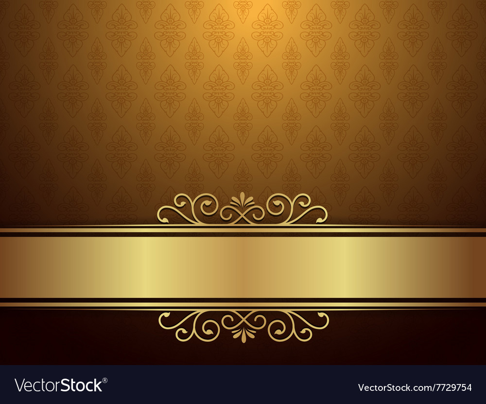 Golden Background With Luxury Design Royalty Free Vector