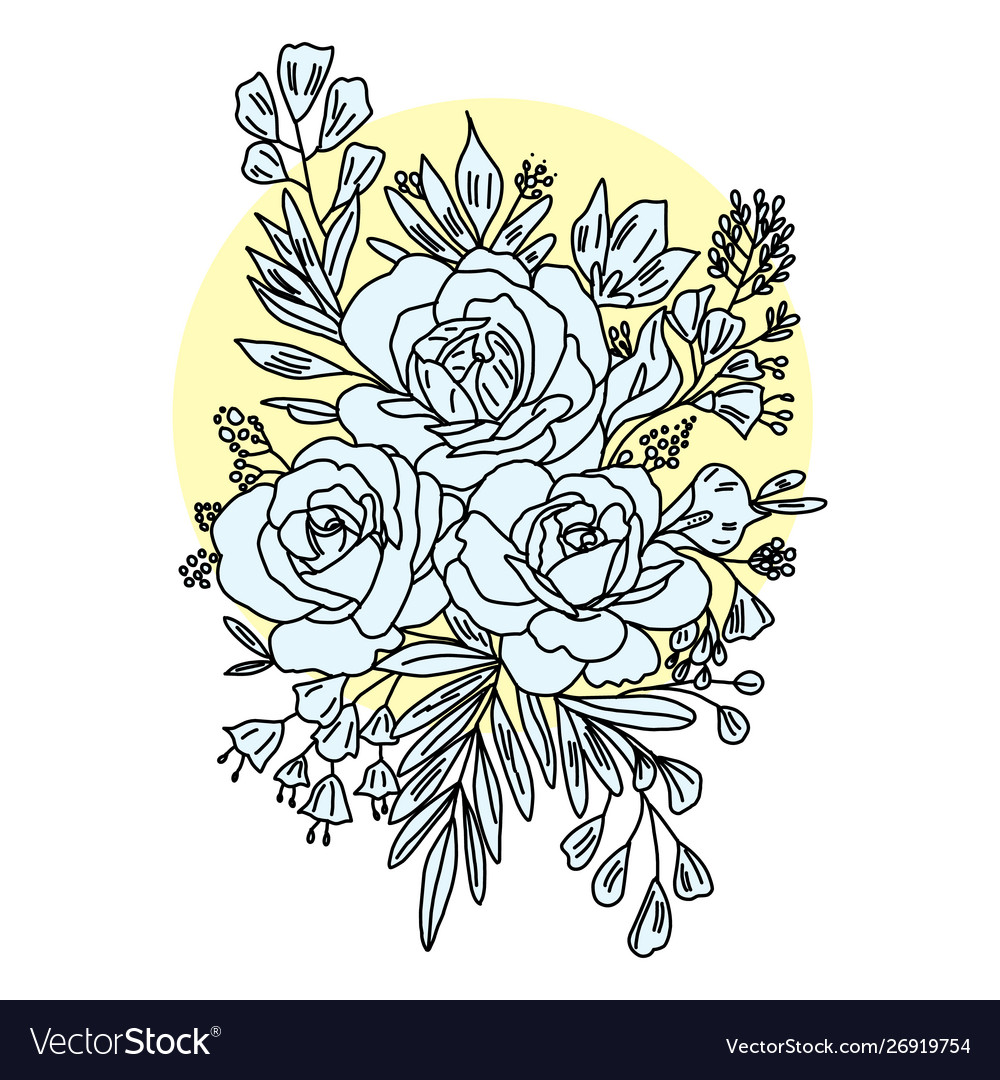 Graphical flower black flower