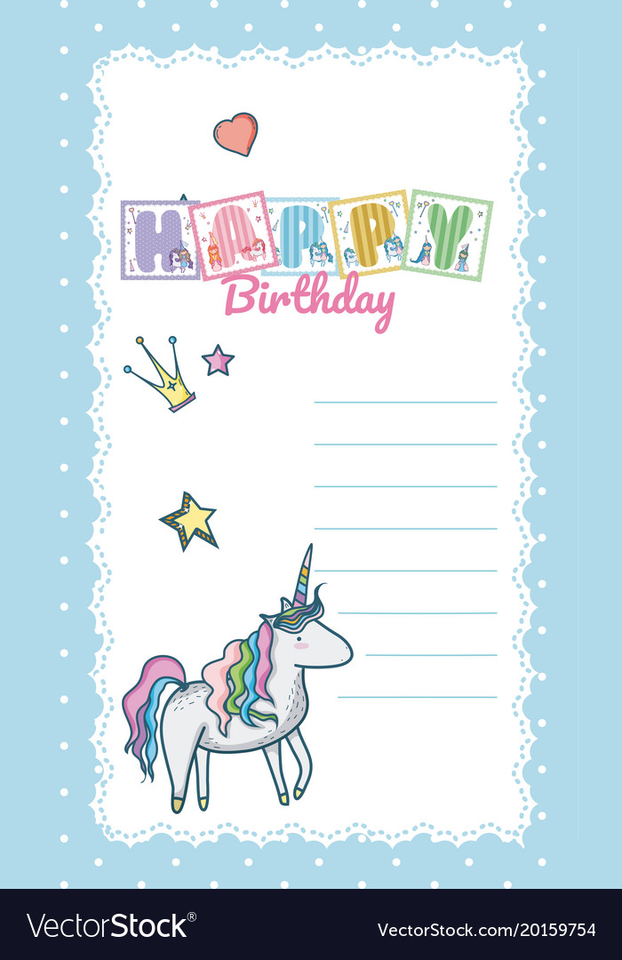 Happy Birthday Card For Little Girl Royalty Free Vector