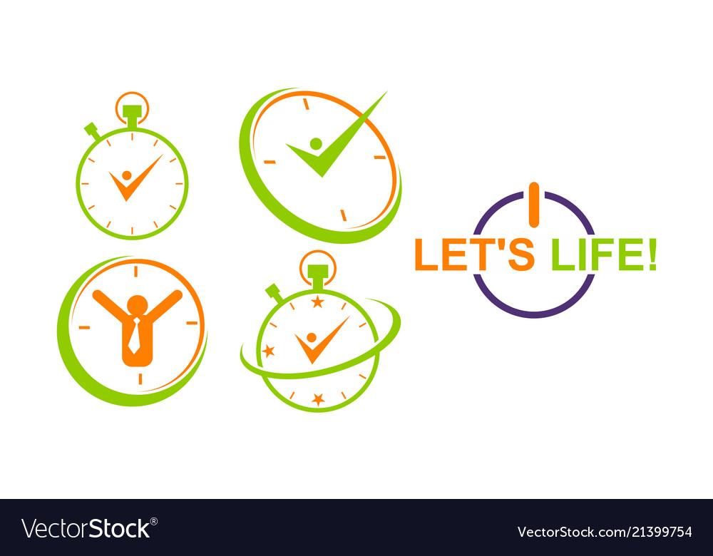Time management template set
