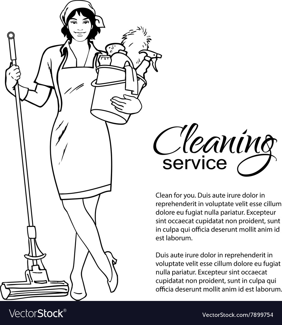 Woman in uniform Cleaning services