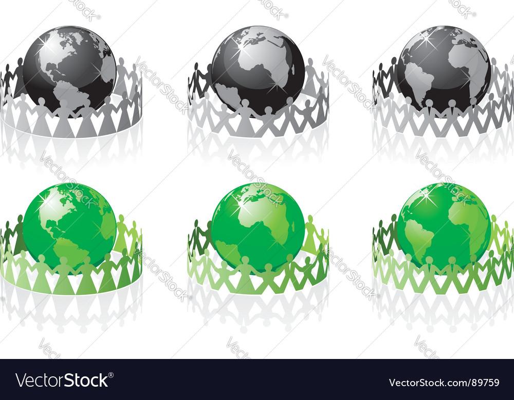 Earth people vector image