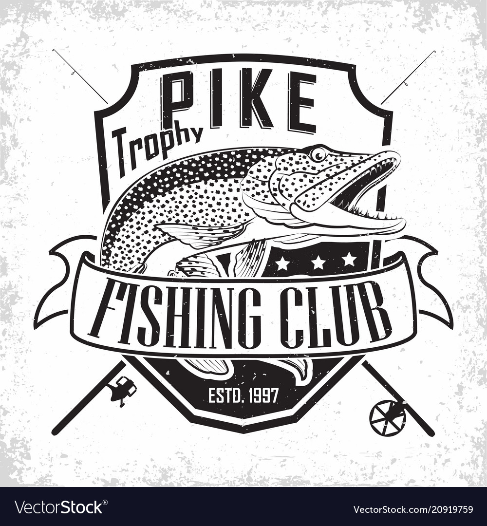 Fishing club logo vector image