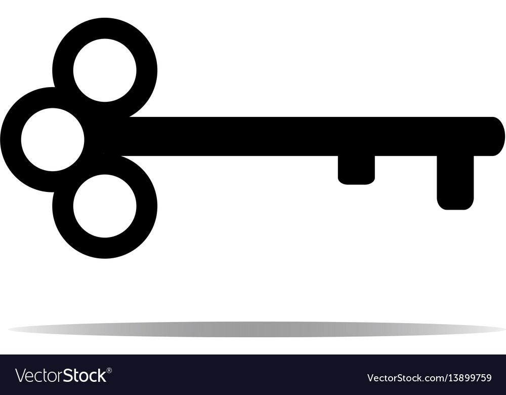 Key Icon Key Symbol Isolated On White Background Vector Image